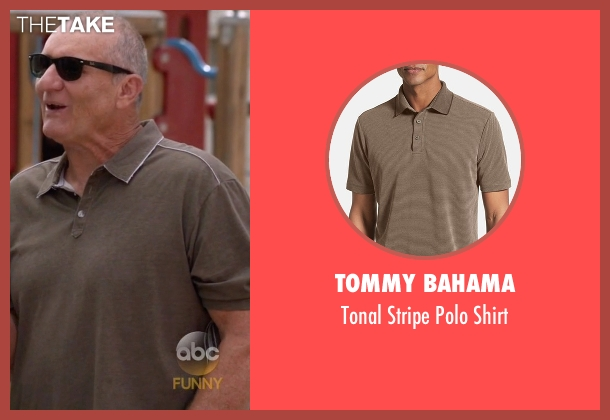 Tommy Bahama brown shirt from Modern Family seen with Jay Pritchett (Ed O'Neill)