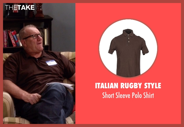 Italian Rugby Style brown shirt from Modern Family seen with Jay Pritchett (Ed O'Neill)