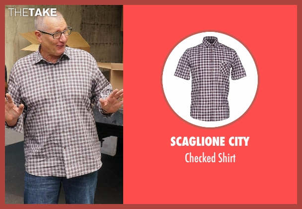 Scaglione City brown shirt from Modern Family seen with Jay Pritchett (Ed O'Neill)