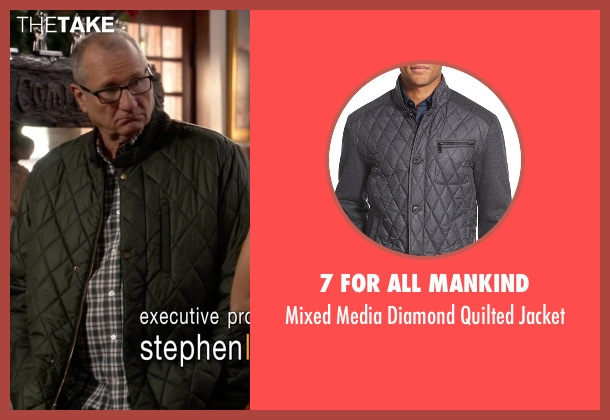 7 For All Mankind gray jacket from Modern Family seen with Jay Pritchett (Ed O'Neill)