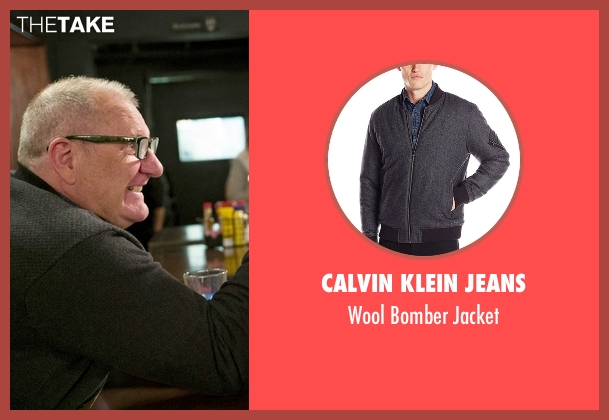 Calvin Klein Jeans gray jacket from Modern Family seen with Jay Pritchett (Ed O'Neill)