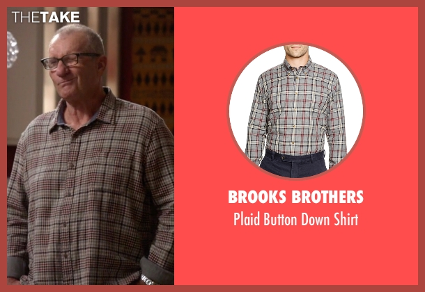Brooks Brothers gray shirt from Modern Family seen with Jay Pritchett (Ed O'Neill)