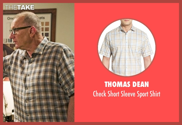 Thomas Dean gray shirt from Modern Family seen with Jay Pritchett (Ed O'Neill)