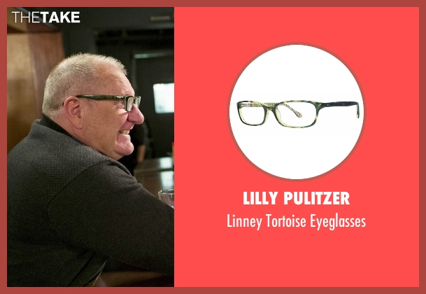 Lilly Pulitzer green eyeglasses from Modern Family seen with Jay Pritchett (Ed O'Neill)