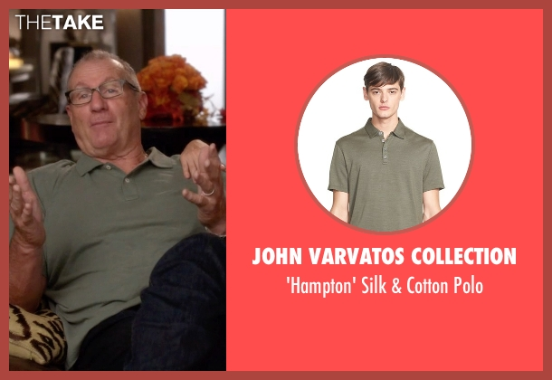 John Varvatos Collection green polo from Modern Family seen with Jay Pritchett (Ed O'Neill)