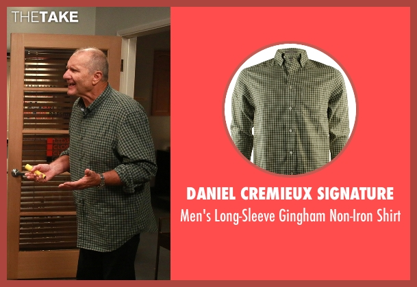 Daniel Cremieux Signature green shirt from Modern Family seen with Jay Pritchett (Ed O'Neill)