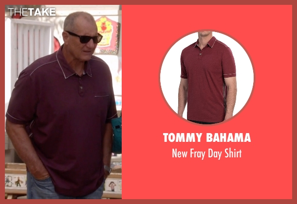 Tommy Bahama red shirt from Modern Family seen with Jay Pritchett (Ed O'Neill)