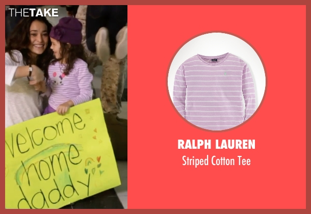 Ralph Lauren pink tee from Self/Less seen with Jaynee-Lynne Kinchen (Anna)