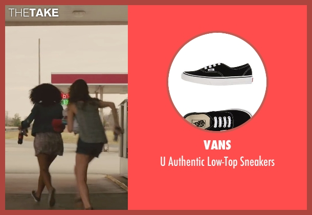 Vans black sneakers from Paper Towns seen with Jaz Sinclair (Angela)