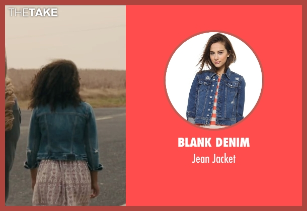 Blank Denim blue jacket from Paper Towns seen with Jaz Sinclair (Angela)
