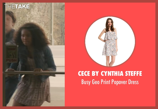 Cece by Cynthia Steffe white dress from Paper Towns seen with Jaz Sinclair (Angela)