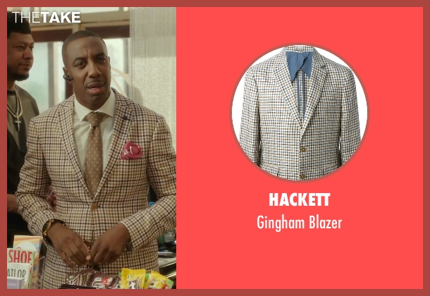Hackett beige blazer from Barbershop: The Next Cut seen with J.B. Smoove (Unknown Character)