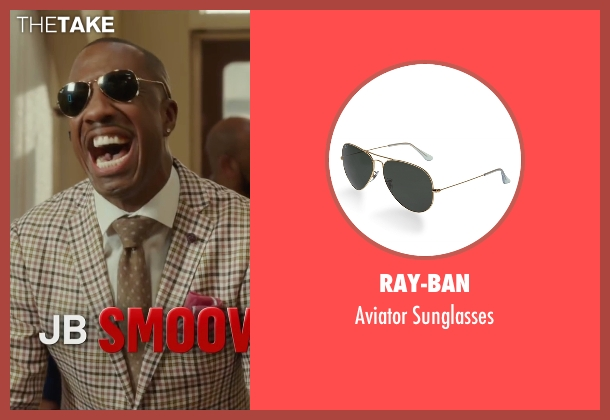 Ray-Ban black sunglasses from Barbershop: The Next Cut seen with J.B. Smoove (Dante)