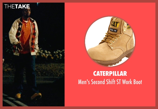 Caterpillar brown boot from Hall Pass seen with J.B. Smoove (Flats)