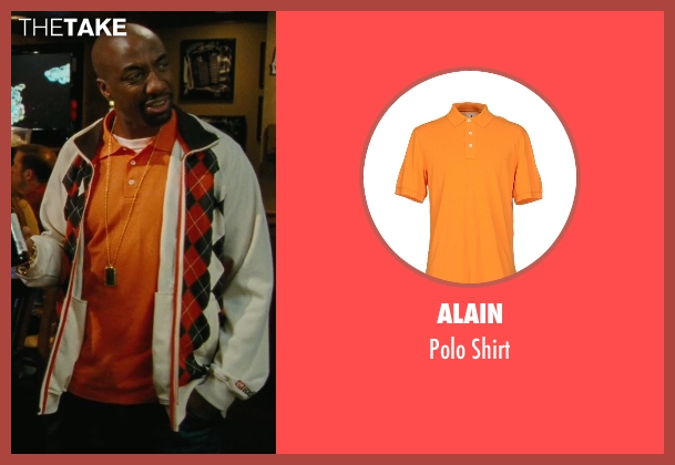 Alain orange shirt from Hall Pass seen with J.B. Smoove (Flats)