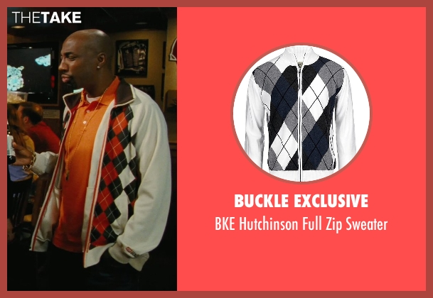 Buckle Exclusive white sweater from Hall Pass seen with J.B. Smoove (Flats)