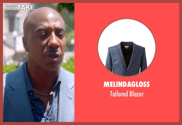 Melindagloss blue blazer from Top Five seen with J.B. Smoove (Silk)