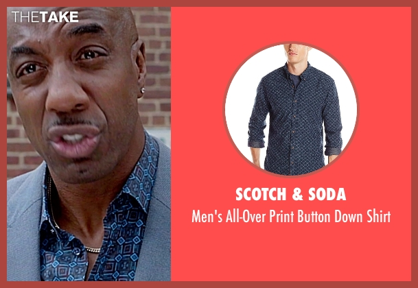 Scotch & Soda blue shirt from Top Five seen with J.B. Smoove (Silk)