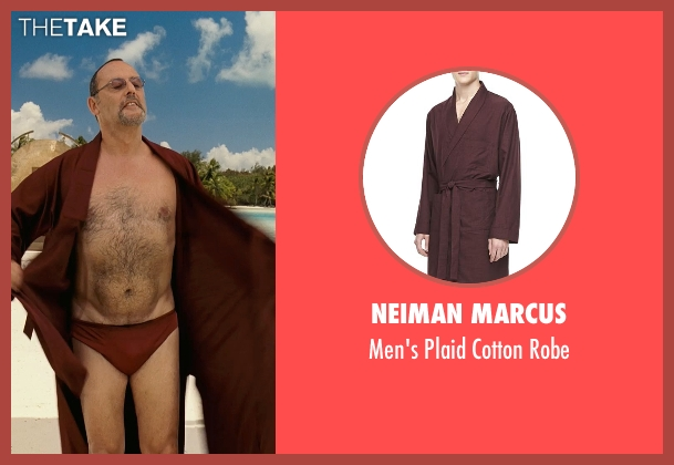 Neiman Marcus red robe from Couple's Retreat seen with Jean Reno (Marcel)