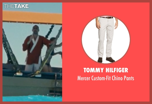 Tommy Hilfiger white pants from Couple's Retreat seen with Jean Reno (Marcel)