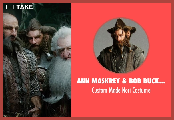Ann Maskrey & Bob Buck (Costume Designer) costume from The Hobbit: The Battle of The Five Armies seen with Jed Brophy (Nori)