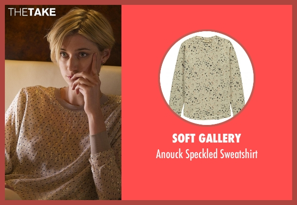 Soft Gallery beige sweatshirt from The Night Manager seen with Jed Marshall (Elizabeth Debicki)