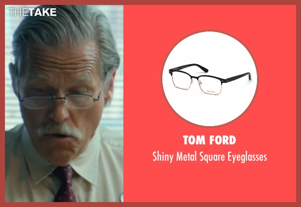 Tom Ford black eyeglasses from Hell or High Water seen with Jeff Bridges (Marcus)