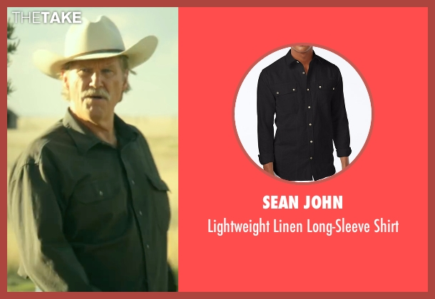 Sean John black shirt from Hell or High Water seen with Jeff Bridges (Marcus)