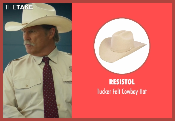 Resistol white hat from Hell or High Water seen with Jeff Bridges (Marcus)