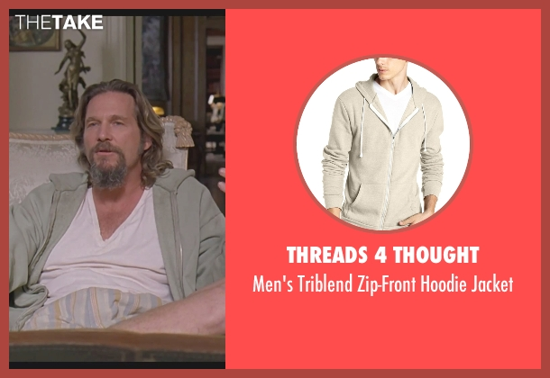 Threads 4 Thought beige jacket from The Big Lebowski seen with Jeff Bridges (The Dude)