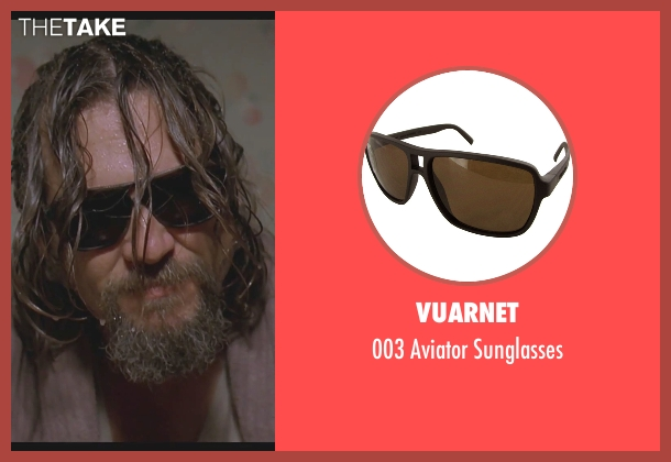 Vuarnet black sunglasses from The Big Lebowski seen with Jeff Bridges (The Dude)