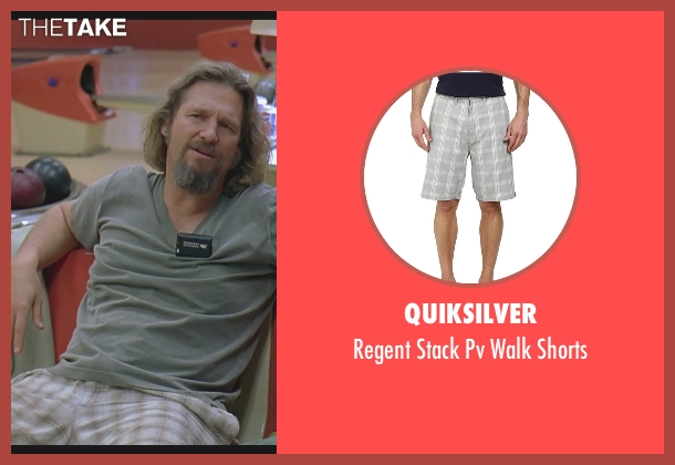 Quiksilver gray shorts from The Big Lebowski seen with Jeff Bridges (The Dude)