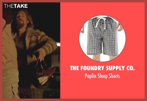 The Foundry Supply Co. gray shorts from The Big Lebowski seen with Jeff Bridges (The Dude)