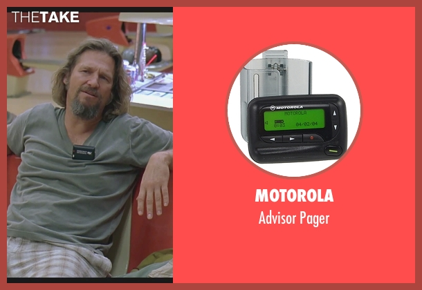Motorola pager from The Big Lebowski seen with Jeff Bridges (The Dude)