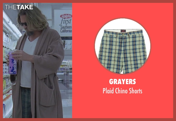 Grayers shorts from The Big Lebowski seen with Jeff Bridges (The Dude)