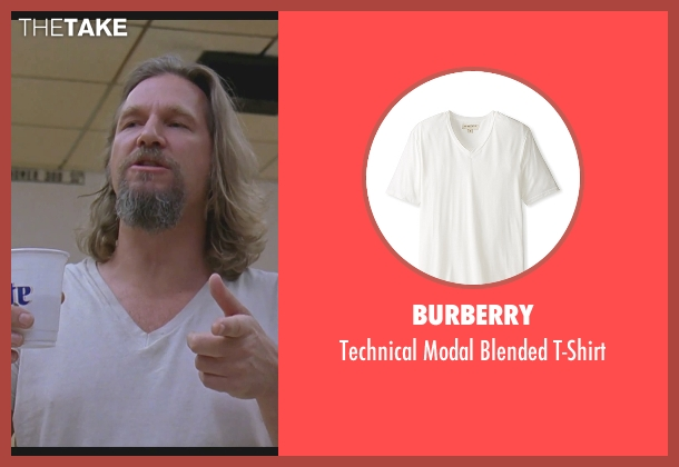 Burberry white t-shirt from The Big Lebowski seen with Jeff Bridges (The Dude)