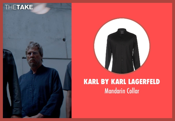 Karl By Karl Lagerfeld black collar from The Giver seen with Jeff Bridges (The Giver)