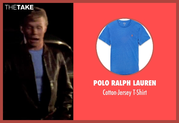 Polo Ralph Lauren blue t-shirt from Grease seen with Jeff Conaway (Kenickie)
