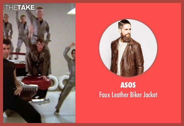 ASOS brown jacket from Grease seen with Jeff Conaway (Kenickie)