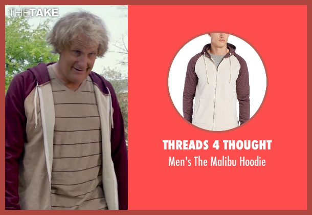 Threads 4 Thought beige hoodie from Dumb and Dumber To seen with Jeff Daniels (Harry Dunne)