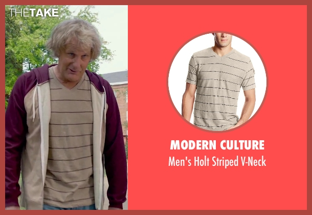 Modern Culture beige v-neck from Dumb and Dumber To seen with Jeff Daniels (Harry Dunne)