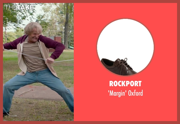 Rockport brown oxford from Dumb and Dumber To seen with Jeff Daniels (Harry Dunne)
