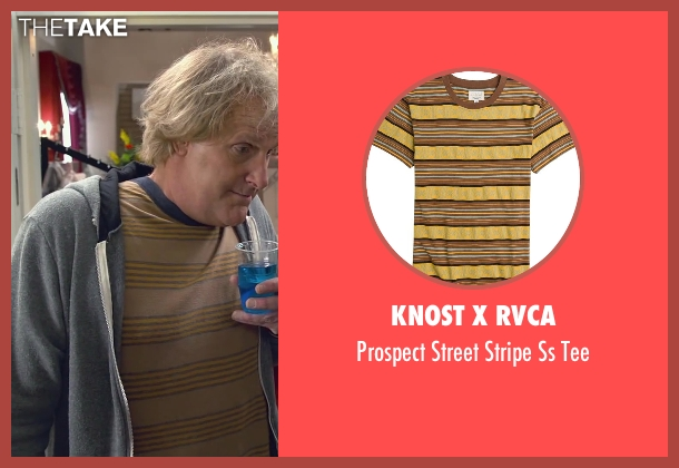 Knost X Rvca brown tee from Dumb and Dumber To seen with Jeff Daniels (Harry Dunne)