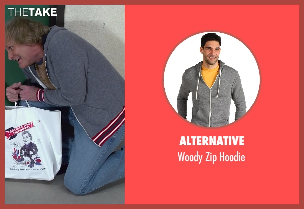Alternative gray hoodie from Dumb and Dumber To seen with Jeff Daniels (Harry Dunne)