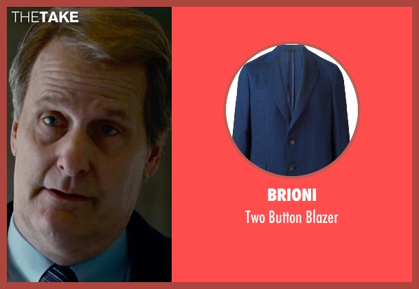Brioni blue blazer from Steve Jobs seen with Jeff Daniels (John Sculley)