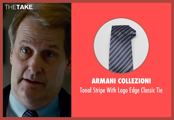 Armani Collezioni blue tie from Steve Jobs seen with Jeff Daniels (John Sculley)