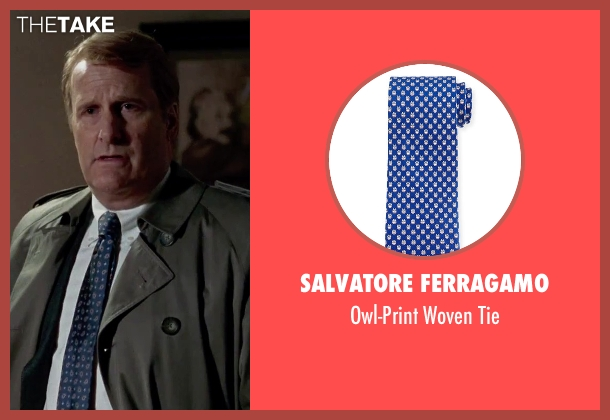 Salvatore Ferragamo blue tie from Steve Jobs seen with Jeff Daniels (John Sculley)