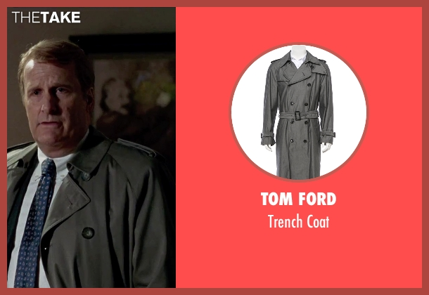 Tom Ford gray coat from Steve Jobs seen with Jeff Daniels (John Sculley)