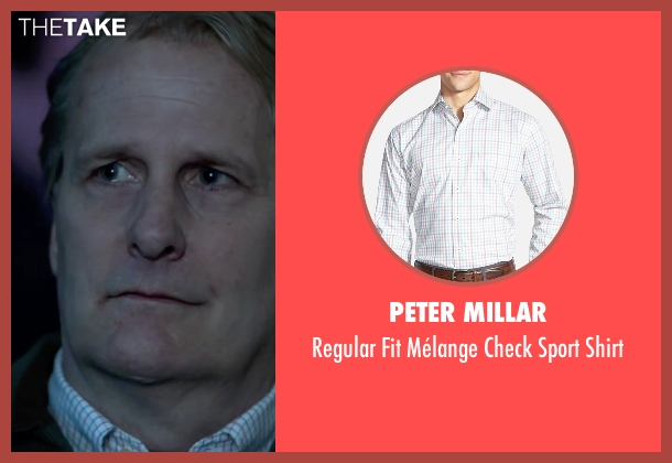 Peter Millar white shirt from Steve Jobs seen with Jeff Daniels (John Sculley)