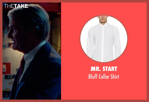Mr. Start white shirt from Steve Jobs seen with Jeff Daniels (John Sculley)